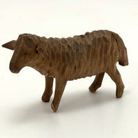 Little Black Forest Swiss Hand-carved Wooden Lamb