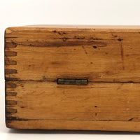 Gorgeous Long Blonde Wood Latched  Box with Jointed Corners