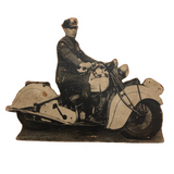 Motorcycle Cop Mounted Photo Cutout