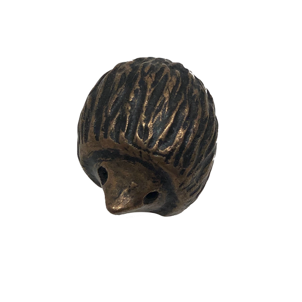 Tiny Mid-Century Cast Bronze Hedgehog