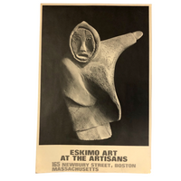 Eskimo Art at the Artisans, Newbury Street 1970s Poster