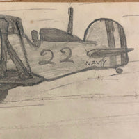 Three Kid Drawn Fighter Planes in Pencil