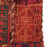 Finely Hand-Embroidered South American Textile Pouch