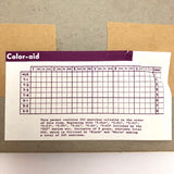 Color-Aid Vintage Set of 202 Coordinated Color Swatches, 6 by 9 inch