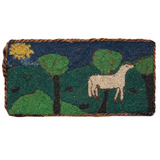 Marvelous Gravel Painting of Horse in Landscape with Rope Border