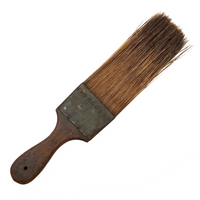 Gorgeous Antique Flat Paintbrush with Long Horsehair Bristles