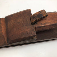Antique Wooden and Leather Saddle Maker's Vise