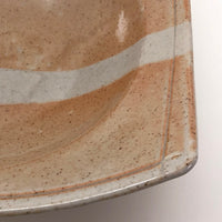 Shallow  Angular Studio Pottery Bowl by Don Williams