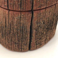 Handmade Bristle Cone Pine Tree Trunk / Limb Lidded Box Signed JE Lux