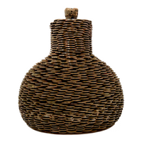 Penny Covered Folk Art Bottle