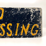 No Trespassing Perfectly Distressed Old Hand-painted Metal Sign