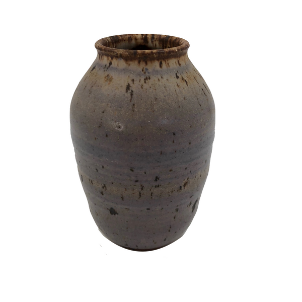 Purplish Glazed Earthenware Bud Vase