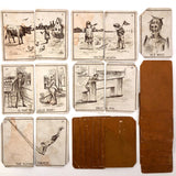 Fantastic Antique Old Maid Playing Card Deck, Presumed British