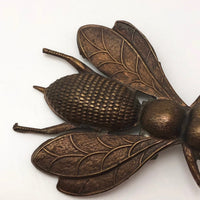 Finely Detailed Cast Copper Bee (or Fly?) Pin