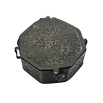 Octagonal Pressed Metal Antique Pill Box