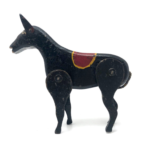 Antique Jointed Folk Art Circus Dog (or Horse?)
