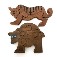 Little Wooden Tiger Puzzle
