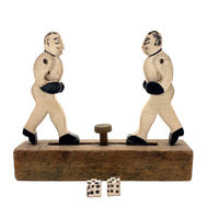 Push Button Antique Mechanical Boxing Figures Toy