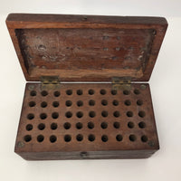 Old Dark Wood Latched Bits Box