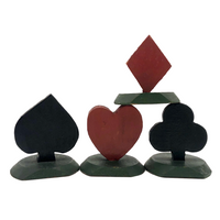 Vintage Wooden Playing Card or Place Card Holders, or Trumps Markers