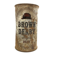 Brown Derby 1950s Flattop Lager Beer Can