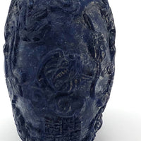 Chinese Carved Blue Stone Snuff Bottle