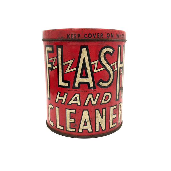 FLASH Hand Cleaner 1940s 3 Lb. Lidded Can