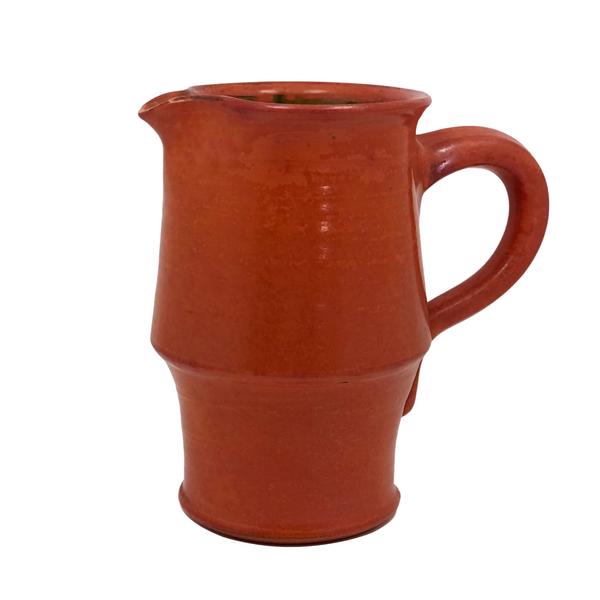 Mid-Century Orange Glazed Signe Northroup Danish Studio Pottery Pitcher