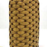 Yellow Plastic and Wicker Woven Vintage Flask