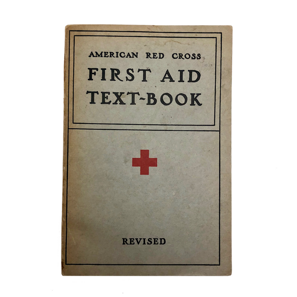 Vintage 1940 American Red Cross First Aid Text-Book