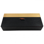 Gold and Black Art Deco Style Wooden Box