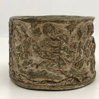 Antique Small Terracotta Planter with Adam, Eve and Cherubs, Presumed Italian