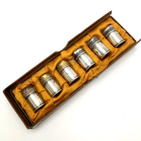 Mini Silver Salt and Peppers - Set of Six
