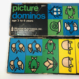 Creative Playthings 1968 Picture Dominoes Set