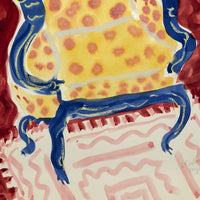 """It Belonged to My Mother"" 1984 Large Watercolor of Wing Chair"