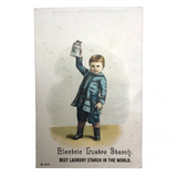 Electric Lustre Starch, Boston MA, Victorian Era Trade Card