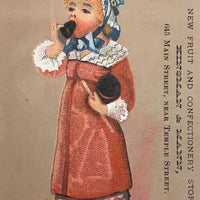 Kinsman & Mann Fruit and Confectionary, Boston MA, Victorian Era Trade Card