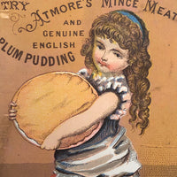 Altmore's Mince Meat, Boston MA Victorian Era Trade Card