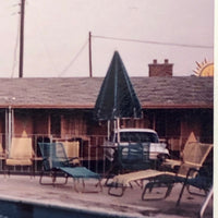 Diver at Motel 1962 Kodachrome Snapshot