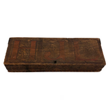 Monogrammed Vintage Wooden Animal Themed Pencil Box