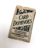 Charles Goodall London Antique Double Sixes Playing Card Dominoes