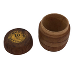 Wooden Barrel Box for Steel Carpet Tacks