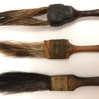 Tiny Old Squirrel Hair Vintage Brushes - Set of Three