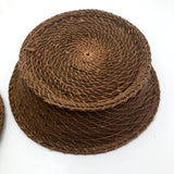 Extremely Fine Pine Needle Flat Lidded Basket, Presumed Antique Native American