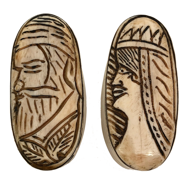 Carved Bone African Trinket Boxes A Pair Critical Eye Finds