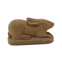 C.C. Hoke 1903 Beautifully Carved Little Guardian Rabbit!