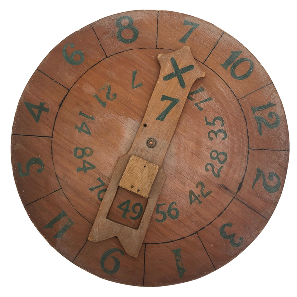 Handmade Multiplication Teaching Dial