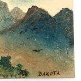 "Hand-painted ""Hills of Dakota"" Landscape Antique Postcard"