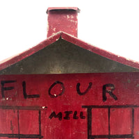 Red Painted Tin Folk Art Flour Mill from the Dummer Estate, Rowley MA