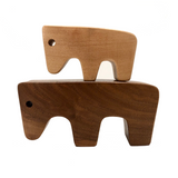 Pair of Vintage Swiss Wooden Cutout Animals in the Manner of Antonio Vitali